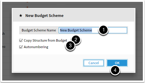 Adding a bugdet scheme