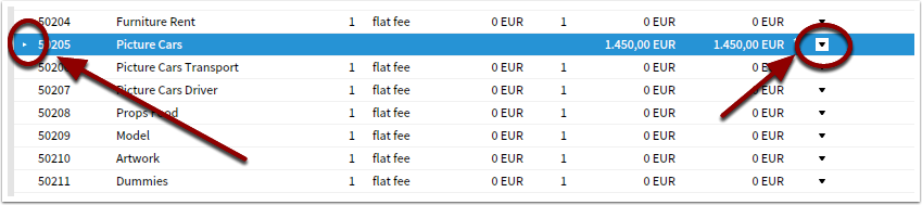 Collapse or expand accounts with sub-accounts for overview