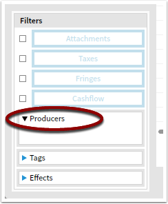 Example: Filter for a producer