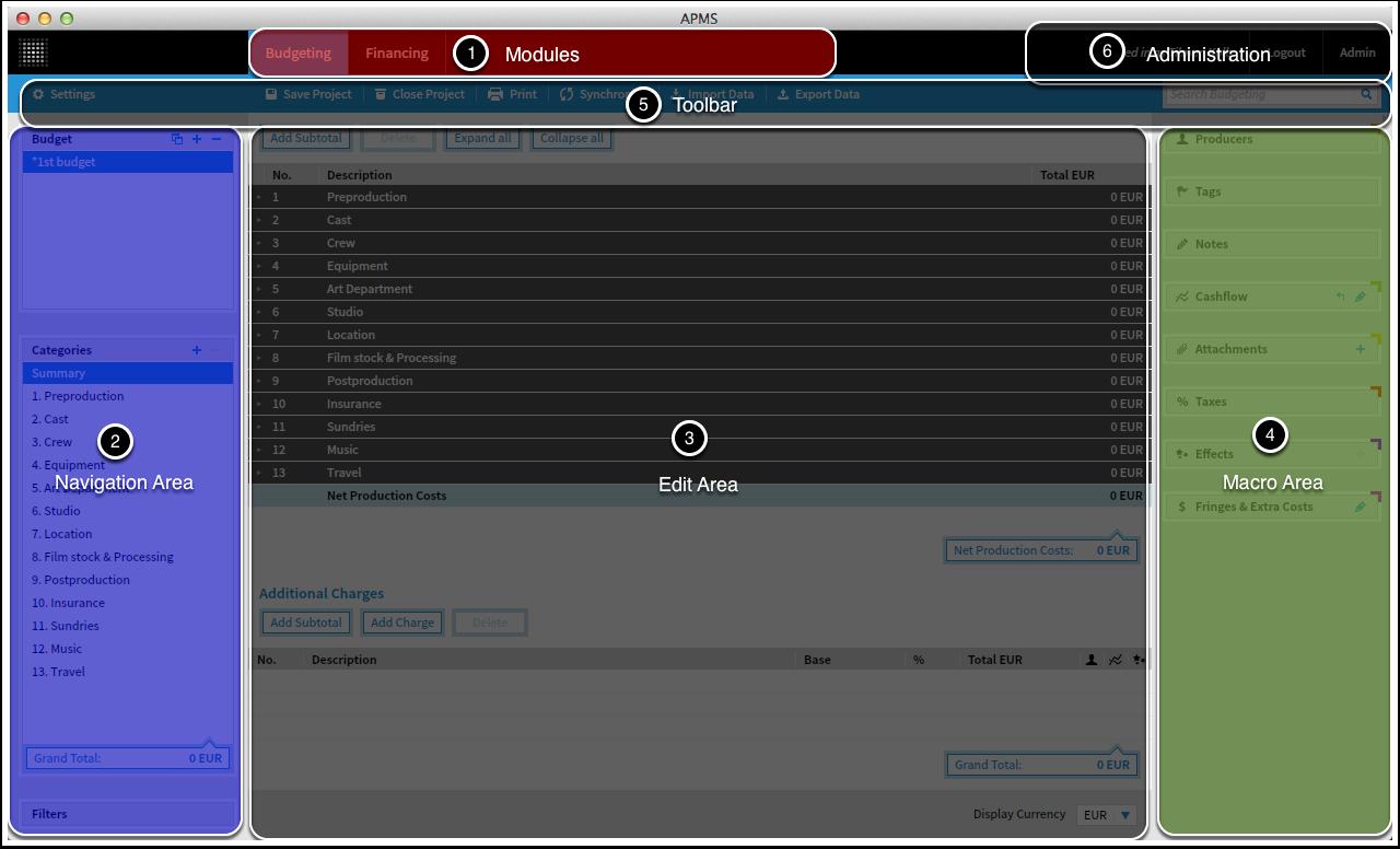 Project Main Screen